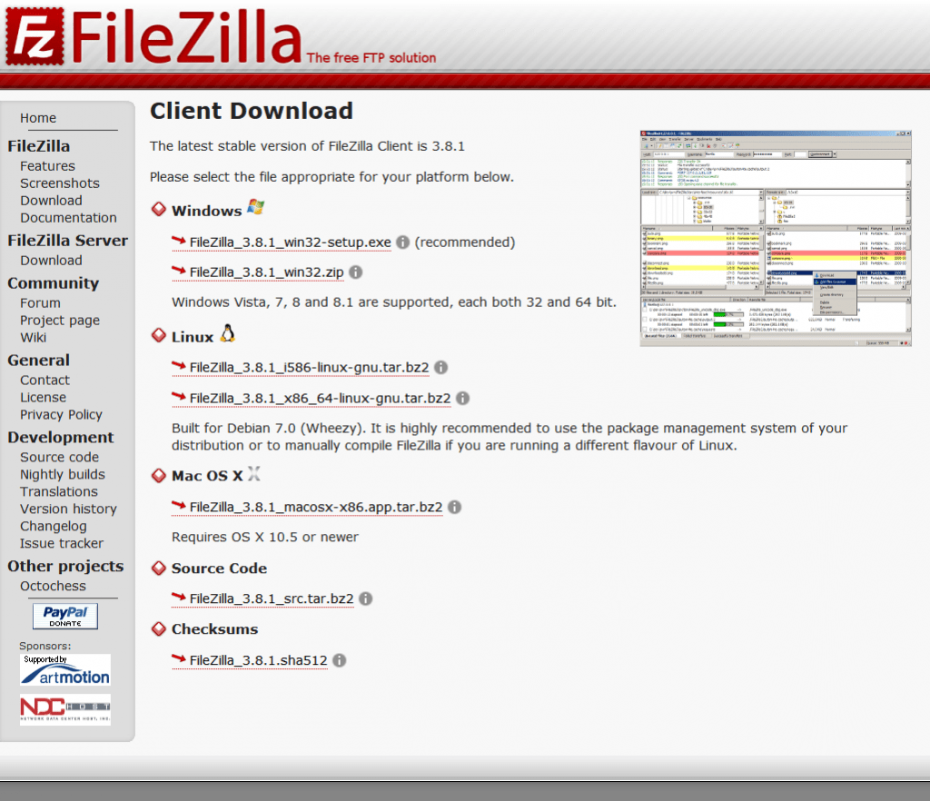 FileZilla - Client Download